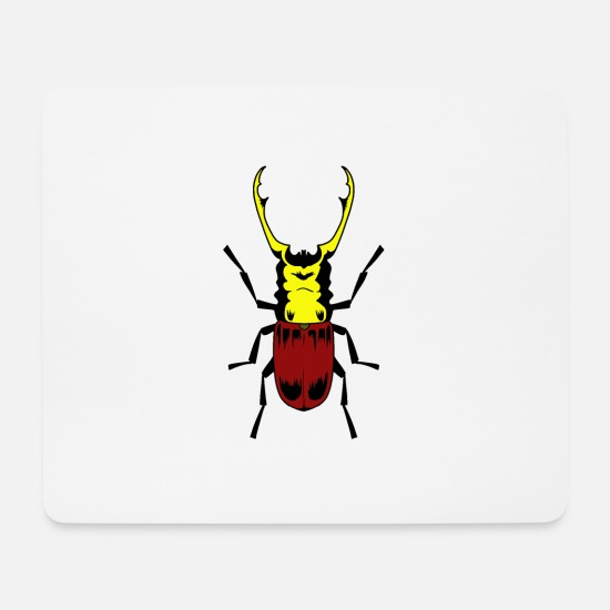 Insect Mouse Pads - Stag beetle insect insects - Mouse Pad white