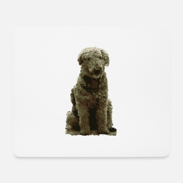 Search Dog Dog dog lover ruffled dog poodle caniche - Mouse Pad