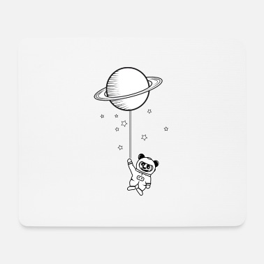Dream Catcher Dreams little astronaut panda bear with Saturn balloon - Mouse Pad