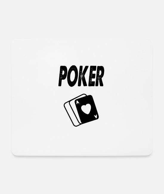 Birthday Mouse Pads - poker - Mouse Pad white