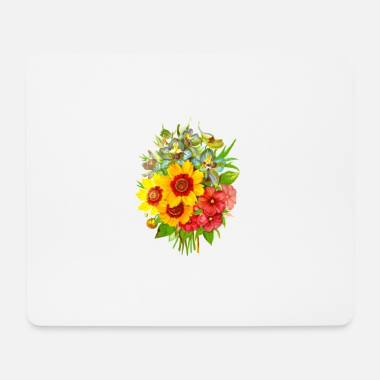 Flower Mouse Pads - Flowers - Mouse Pad white