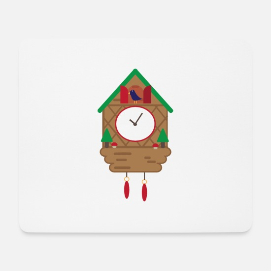 Black Forest Mouse Pads - black forest Cuckoo Clock Black Forest 03 0440 - Mouse Pad white