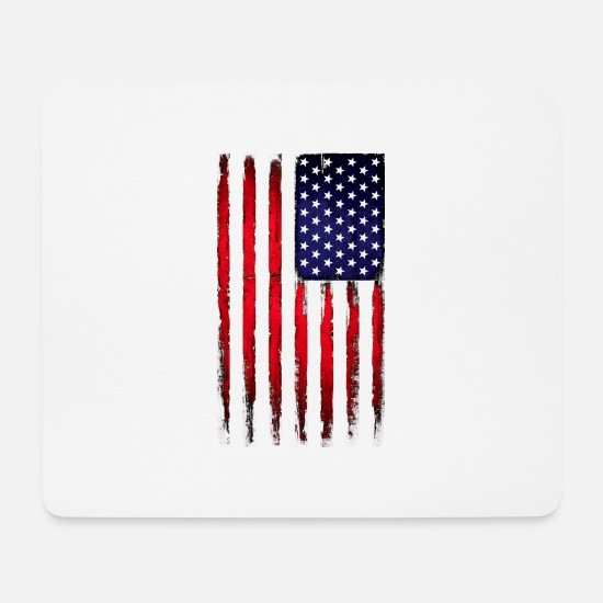 Usa Mouse Pads - Vintage stars and stripes - Mouse Pad white