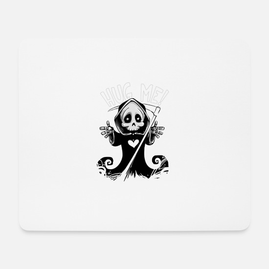 Gift Idea Mouse Pads - Halloween scary monster - Mouse Pad white