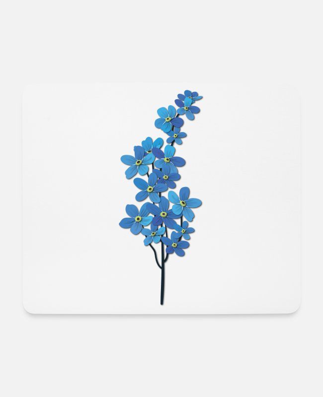 Hippie Mouse Pads - Blue Flower - Beautiful Flower - Beautiful Flowers - Flower - Mouse Pad white
