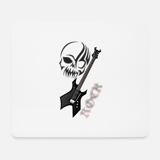Rock Mouse Pads - skirt - Mouse Pad white