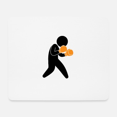 A Boxer Exercising In The Ring - Mouse Pad