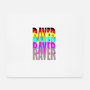 Raver raver raver raver raver - Tappetino per mouse (orizzontale)