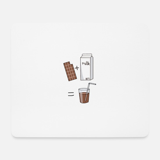 Chocolate Mouse Pads - chocolate milk milk chocolate - Mouse Pad white