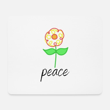 Jimi flower peace - Mouse Pad