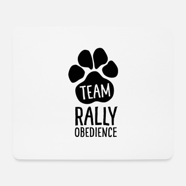 Active With Dog Team Rally Obedience - Dog Paws - Dog Sport - Mouse Pad