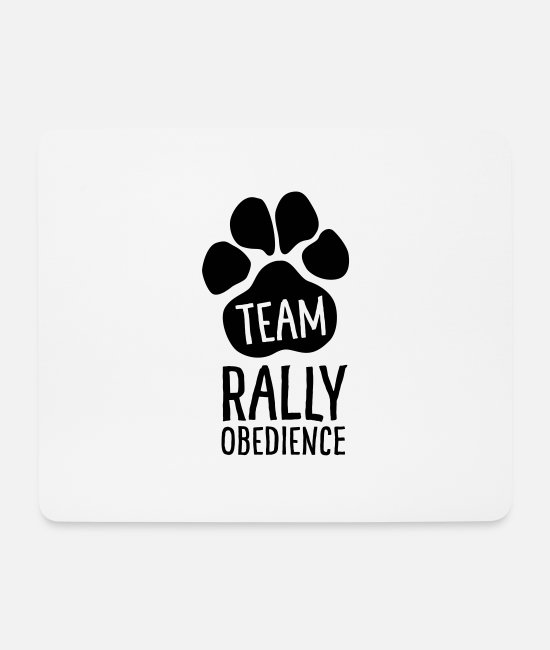 Motion Mouse Pads - Team Rally Obedience - Dog Paws - Dog Sport - Mouse Pad white