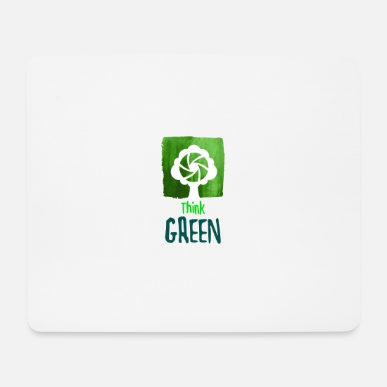 Enviromental Mouse Pads - Environmental Protection Green Nature Gift Environment Nature - Mouse Pad white