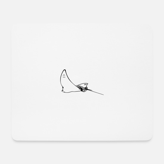 Marine Animal Mouse Pads - eagle rays - Mouse Pad white