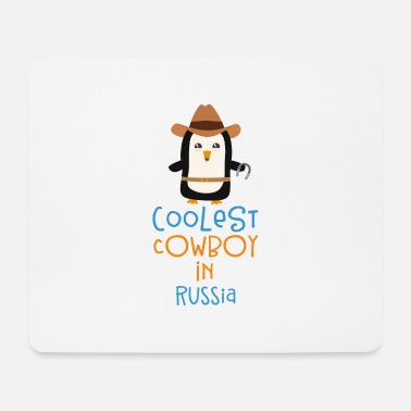 Happy Coolest Cowboy Penguin in Russia Gift - Mouse Pad