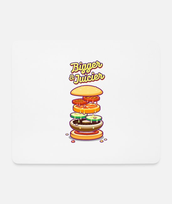 Pizza Mouse Pads - Bigger & Juicier - Mouse Pad white