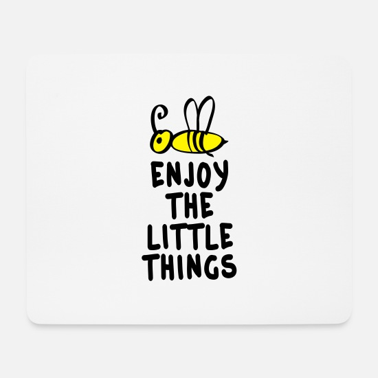 Love Mouse Pads - enjoy the little things 2c - Mouse Pad white