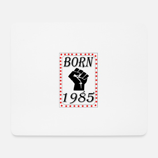 Birthday Mouse Pads - born 1985 - Mouse Pad white