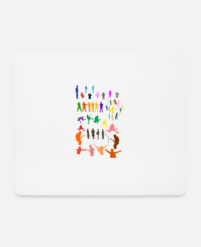 Musician Mouse Pads - People - People - Silhouettes - Diversity - Mouse Pad white