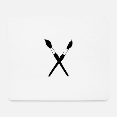 Dose paint brushes - Mouse Pad