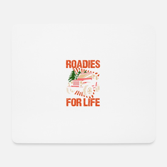 Truck Mouse Pads - Roadie Music Band Band Gift Tour Concert - Mouse Pad white
