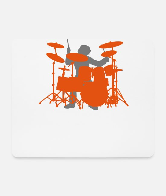 Drummer Mouse Pads - Drums - Mouse Pad white