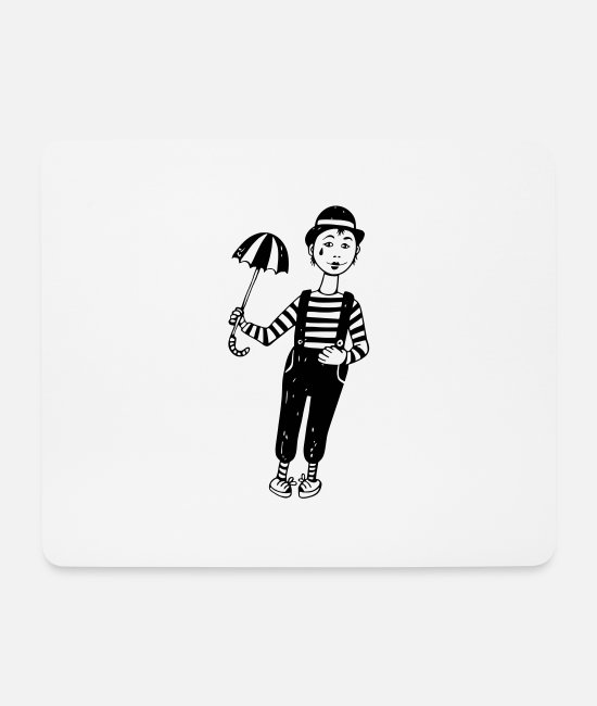 Mime Mouse Pads - mime - Mouse Pad white