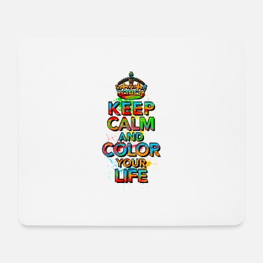 KEEP CALM, music, cool, text, sports, love, retro - Mouse Pad