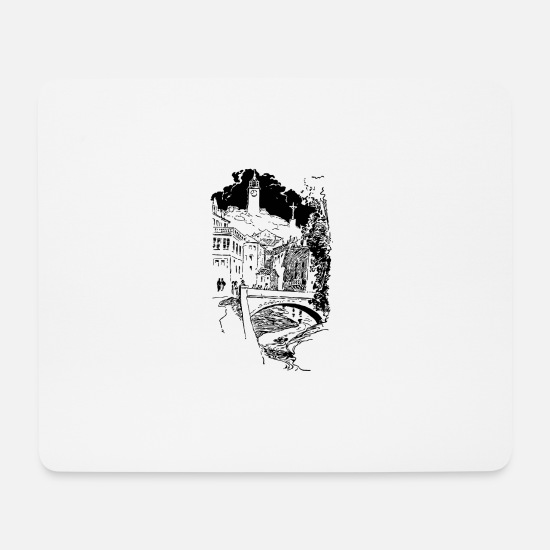 Harbour Mouse Pads - bridge bridge architecture architecture build41 - Mouse Pad white