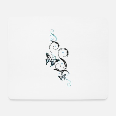 Filigree Filigree butterfly with feminine ornament - Mouse Pad