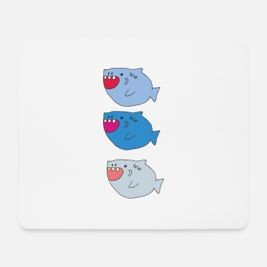 shark trio - Mouse Pad