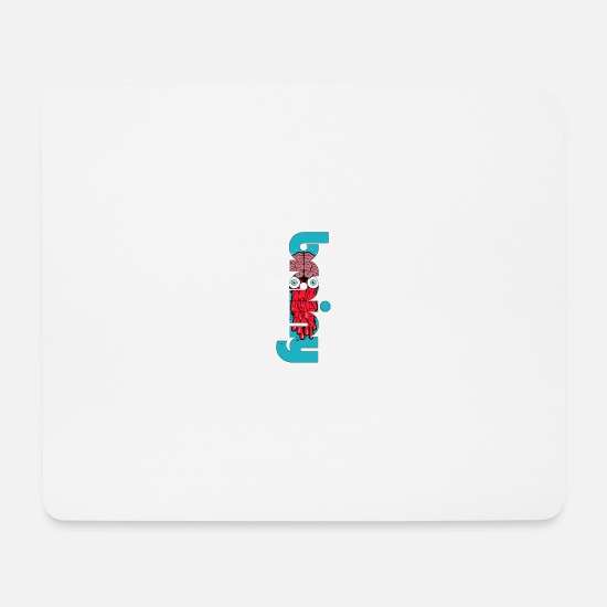 Boss Mouse Pads - brainy ... brain ... brain - Mouse Pad white