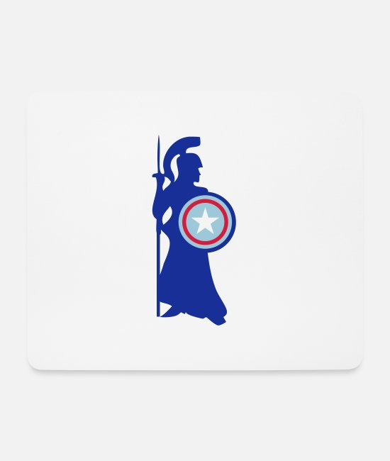 Sparta Mouse Pads - Ancient Greek Soldier of Ancient Greece - Mouse Pad white