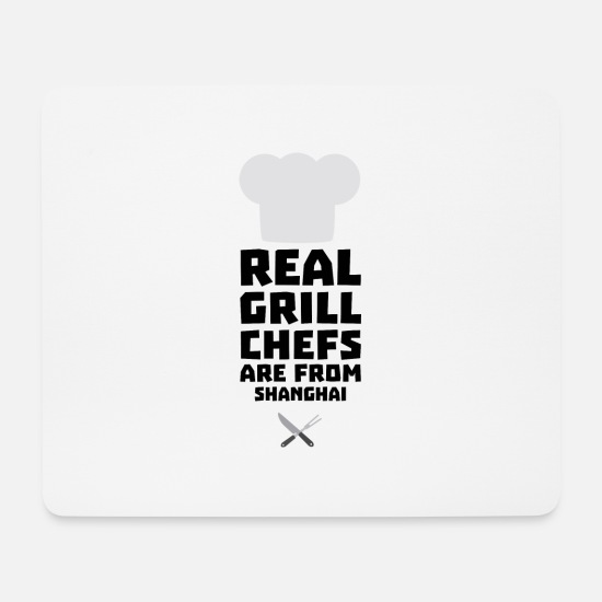 Skies Mouse Pads - Real Grill Chefs are from Shanghai Sf0mg - Mouse Pad white