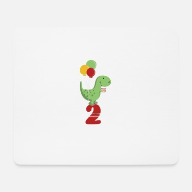 Boy Dinosaur 2 Second Birthday Boy T Rex Dinosaur - Mouse Pad