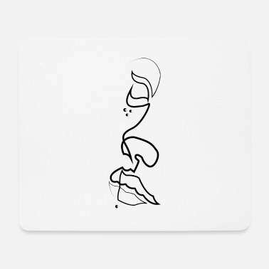 Womens Face Women face - Mouse Pad