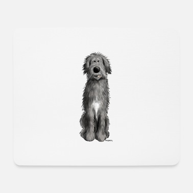 Funny Irish Sweet Irish wolfhound - cartoon - comic - funny - Mouse Pad