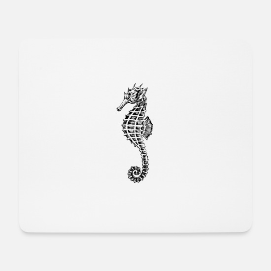 Sea Horse Mouse Pads - sea horse - Mouse Pad white