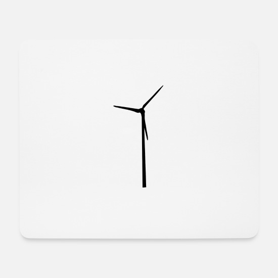 Turbine Mouse Pads - windmill windmill wind turbine windrad8 - Mouse Pad white
