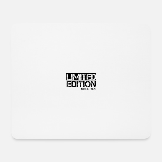 Birthday Mouse Pads - Limited Edition 1978 Birthday birth year birth - Mouse Pad white
