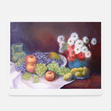 Peinture Masque motif fruits masque deconfinement love - Tapis de souris
