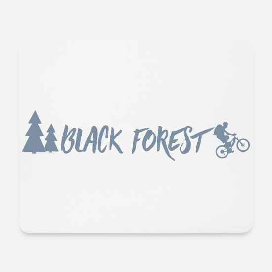 Freiburg Mouse Pads - Black Forest MTB - Mouse Pad white