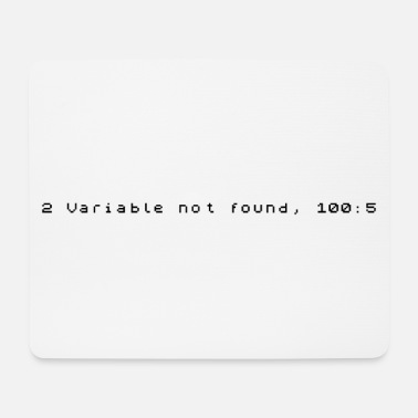 Variable Not Found 2 Variable not found - ZX Spectrum Error - Mouse Pad