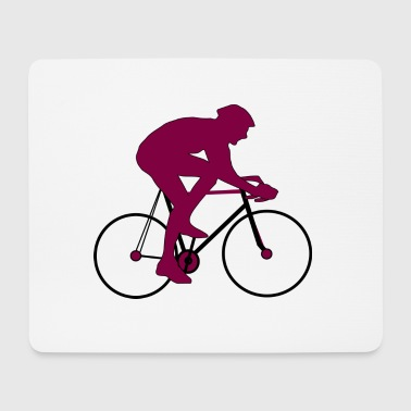 Road cykelrytter Silhouette gave - Mousepad (bredformat)