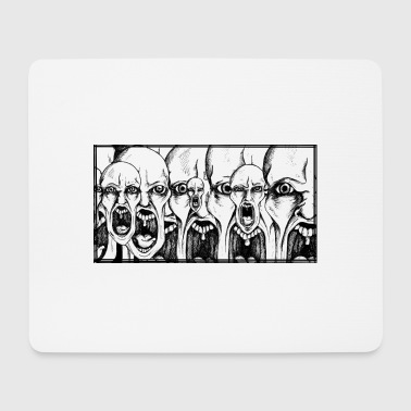 screaming faces - Mouse Pad (horizontal)