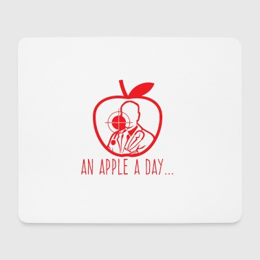 Doctor / Health Practitioner: An Apple A Day Keeps The Doctor - Mouse Pad (horizontal)