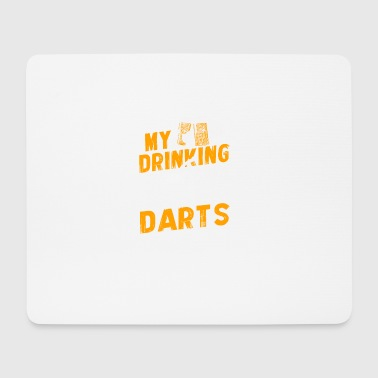 my drinking team has a darts problem - Mousepad (Querformat)