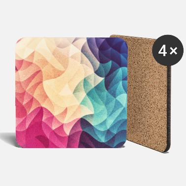 Abstract low poly color pattern design (spectrum) - Podstawki