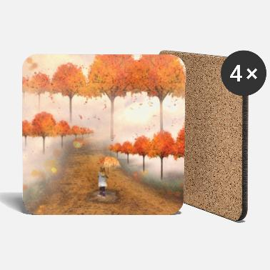 Autumn Alley - Coasters