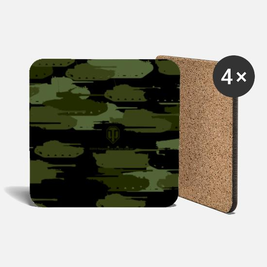 Game Mugs & Drinkware - World of Tanks - Tanks Camouflage Cover - Coasters white